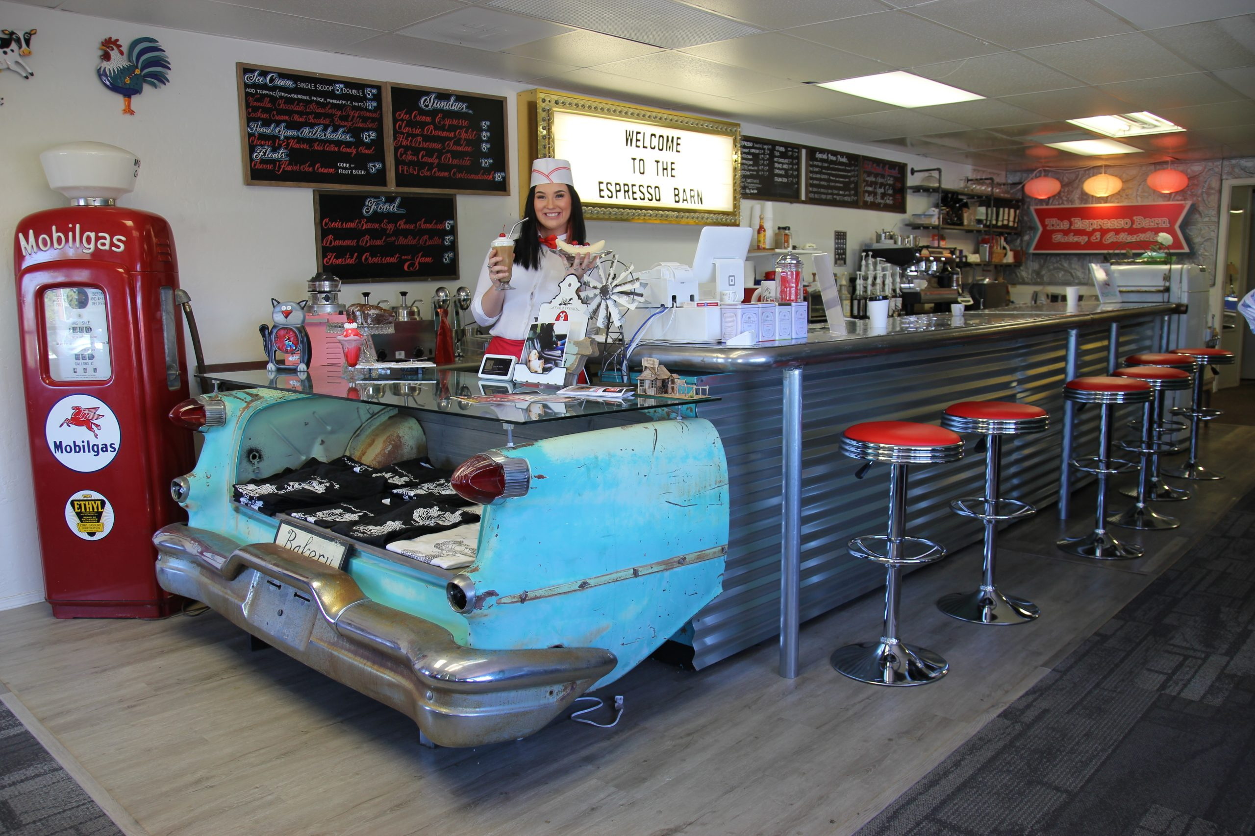 New Christmas Experience In Prescott 2020 Prescott has a new 50's Style Soda Fountain and Ice Cream Parlor
