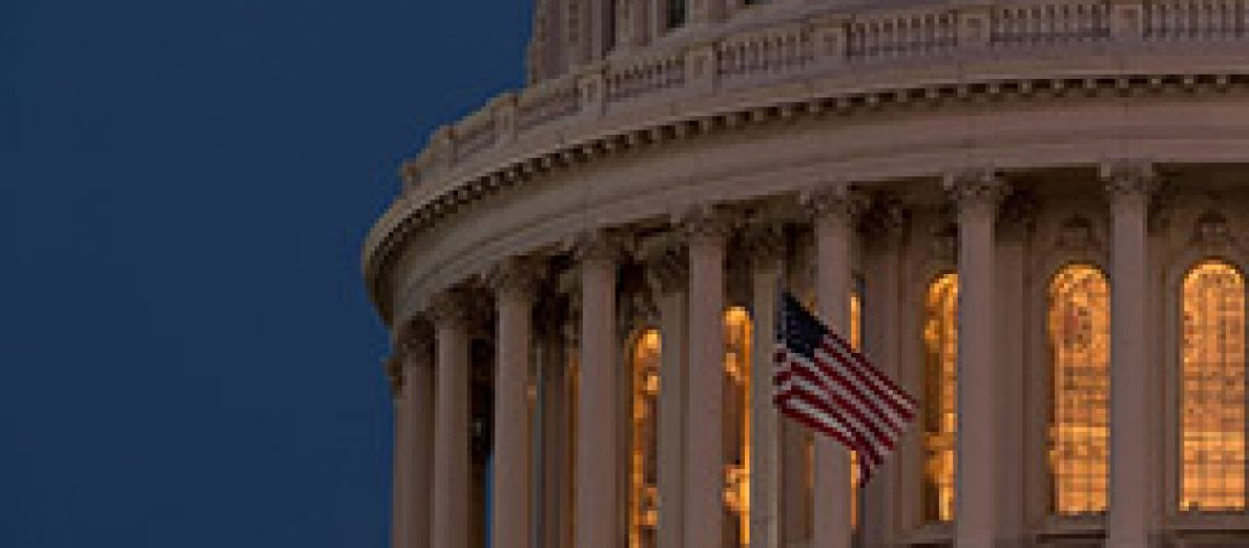 The U..S Capitol dome at nigthfall. (Photo courtesy Architect of the Capitol)